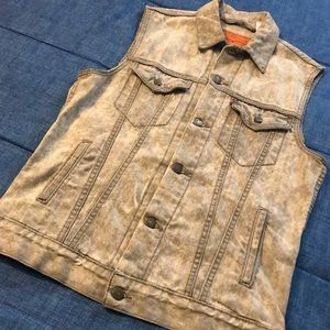 Gray Sleeveless Levis Jean Jacket